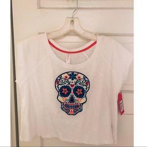 Sugar skull crop top